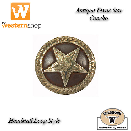 Wildhorn 'Texas Star' Headstall Loop Concho