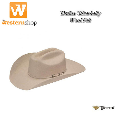 Twister 'Dallas' Western Hat - Silverbelly