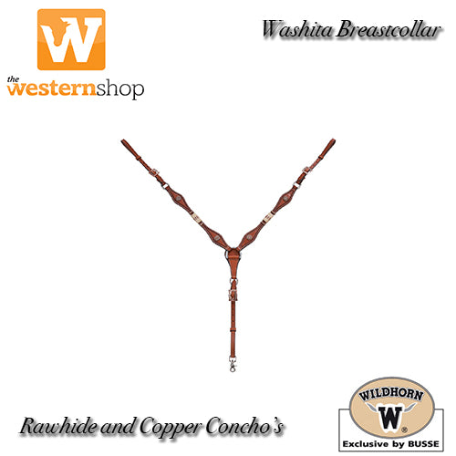 Wildhorn 'Washita' Rawhide and Horse Hair Tassel Breastcollar