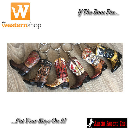 Austin Accent 'Western Boot' Keyring