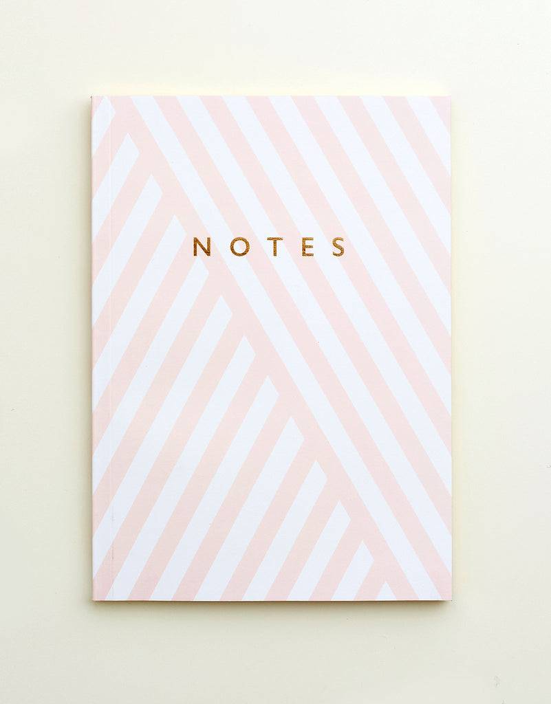 Stripe Edge Painted Notebook A5