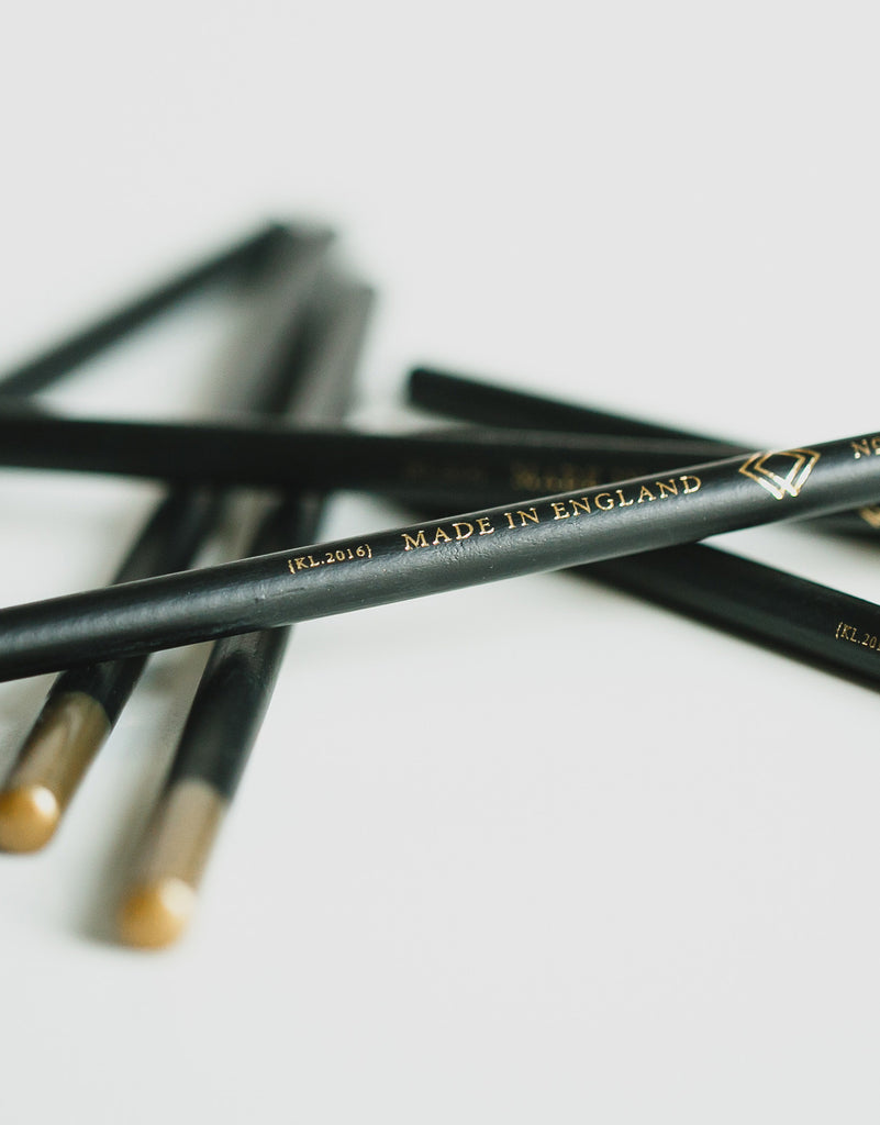 Luxury Black Foil Pencil Set