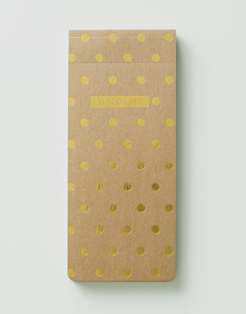 Kraft & Gold Polkadot To Do List Pad