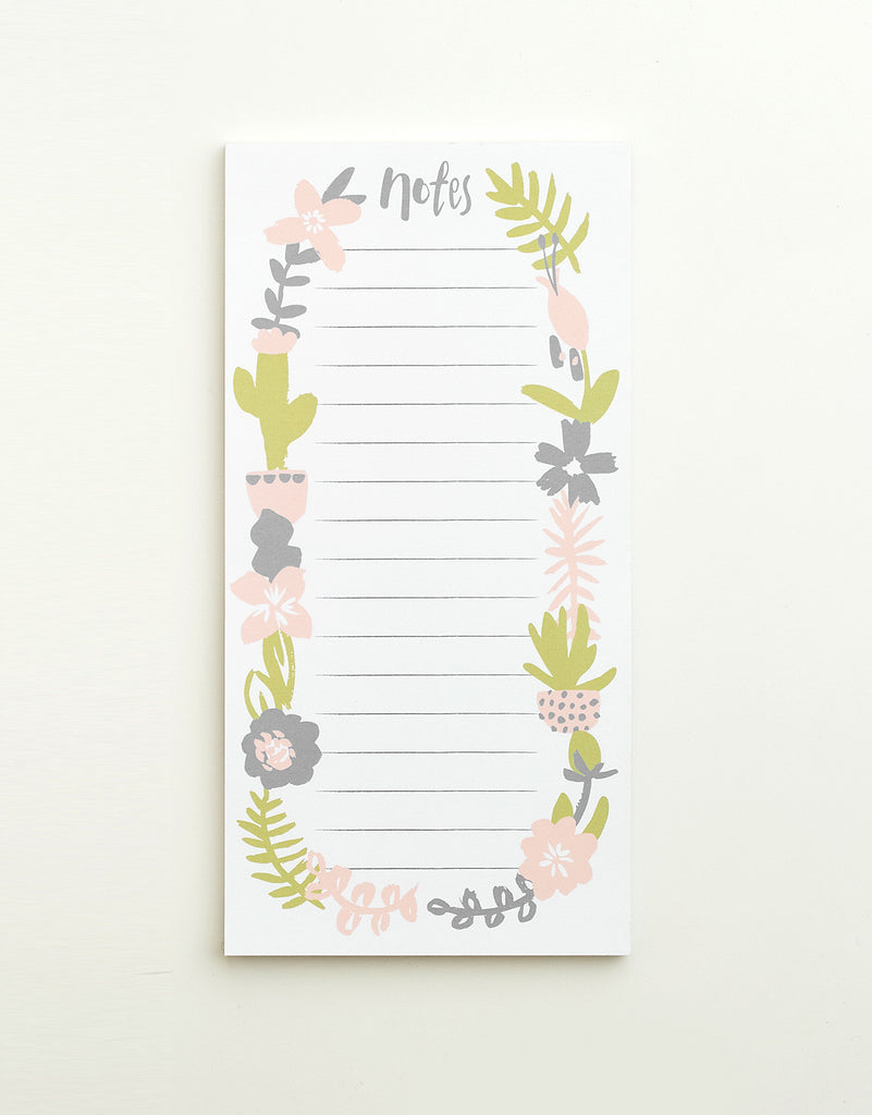 Floral To Do List Pad