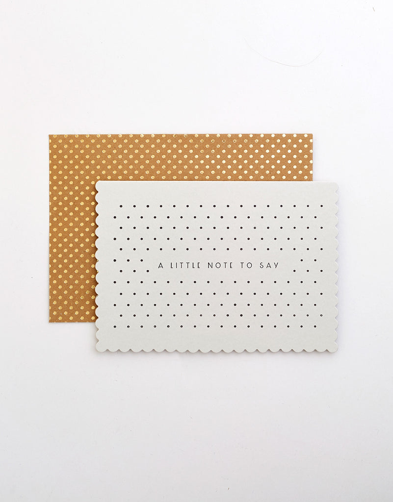 Bonjour / Little Note Pocket Notecard set