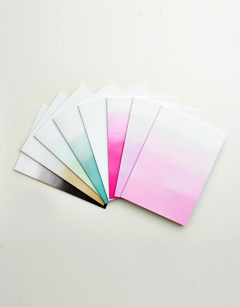 Ombre Notecard Set
