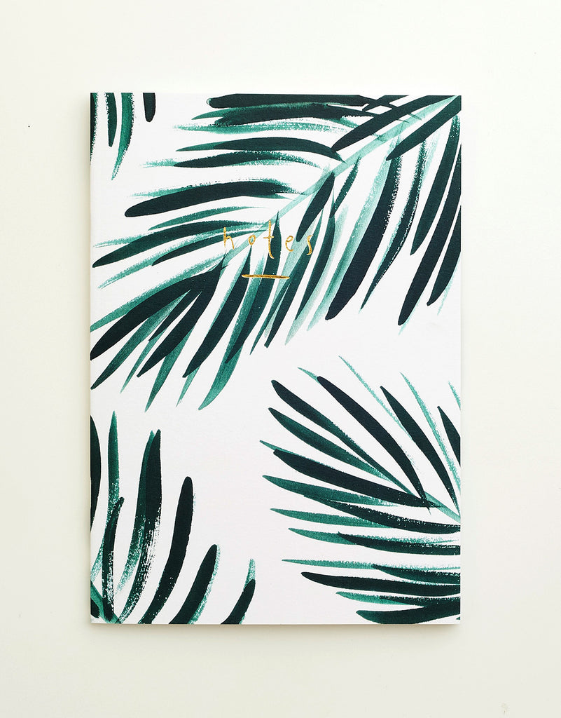 Palm Gold Leaf Notebook