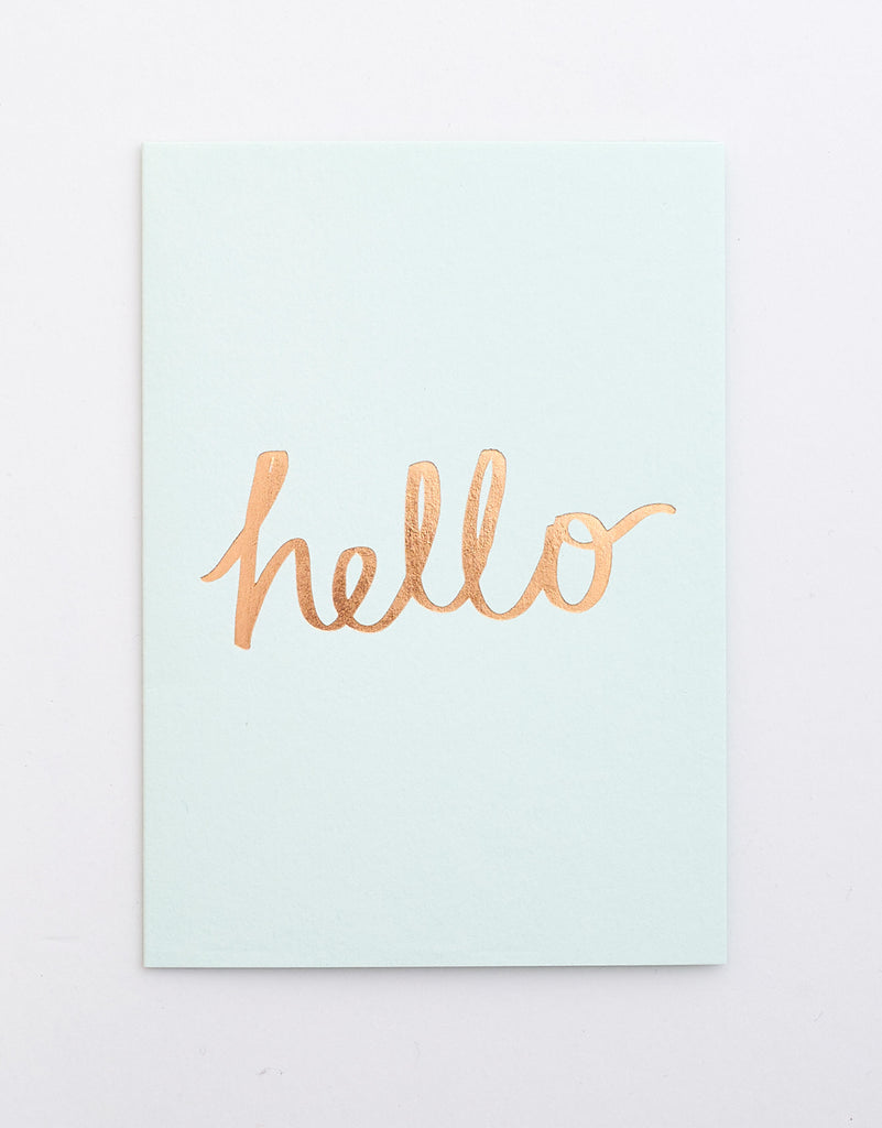 Hello / Thank You Notecard Set