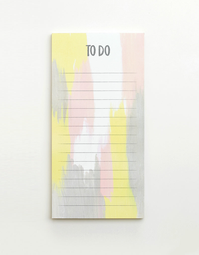 Yellow & Grey To Do List Pad