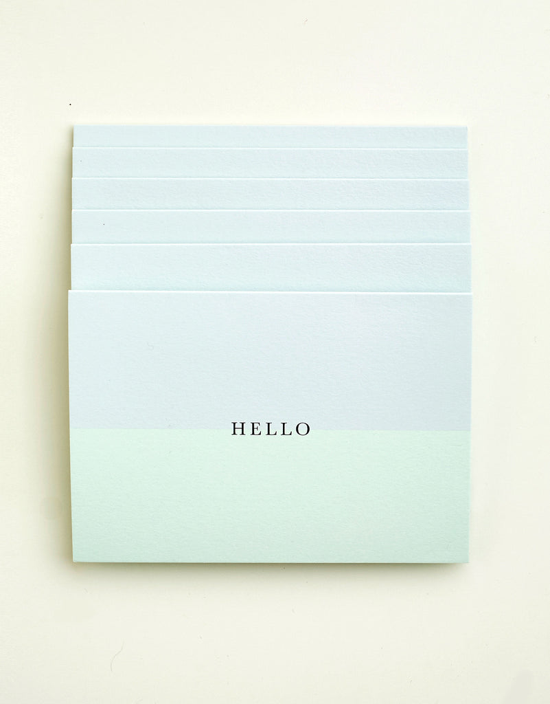 Pack of 6 Hello Notecards