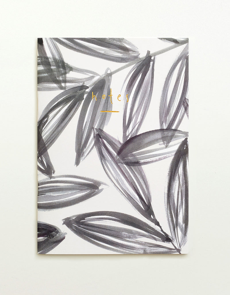 Grey Leaves Notebook
