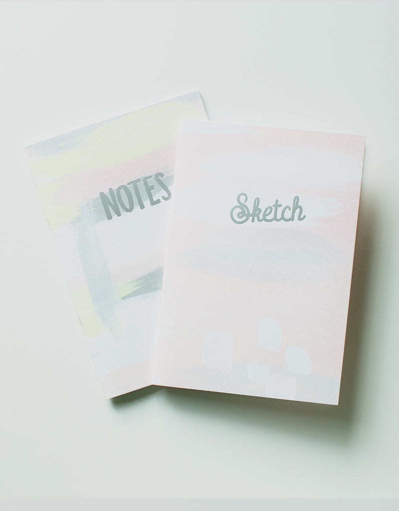 Yellow & Coral Notes & Sketch Books