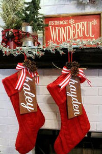 Wooden Stocking Tags - Ciao Bella Boutique