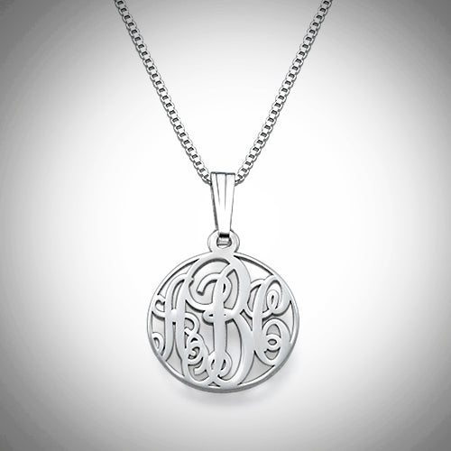XS Circle Monogram Necklace - Silver or Gold - Ciao Bella Boutique