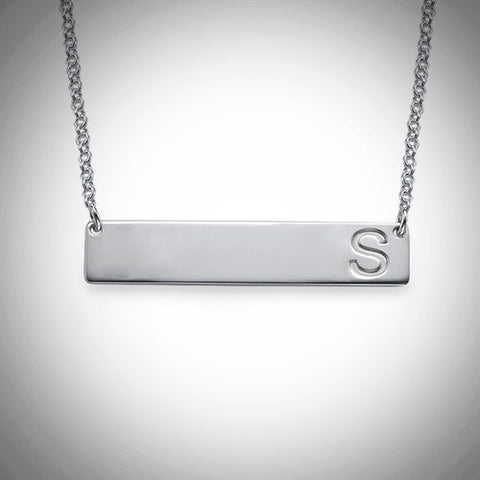 Initial Bar Necklace - Ciao Bella Boutique