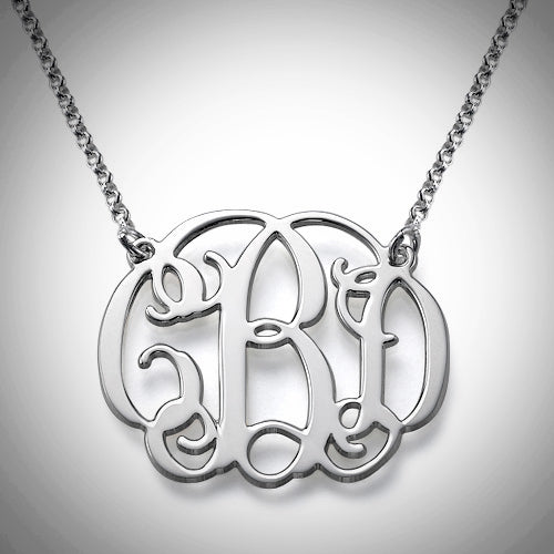 Monogram Necklace Double Snag - Silver, Rose Gold, or Gold - Ciao Bella Boutique