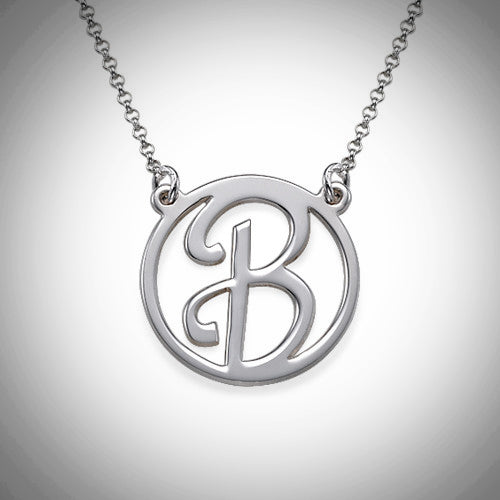 Cutout Initial Necklace - Silver or Gold - Ciao Bella Boutique