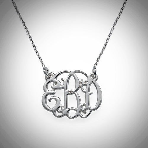 Small Monogram Necklace - Silver, Rose Gold, or Gold - Ciao Bella Boutique