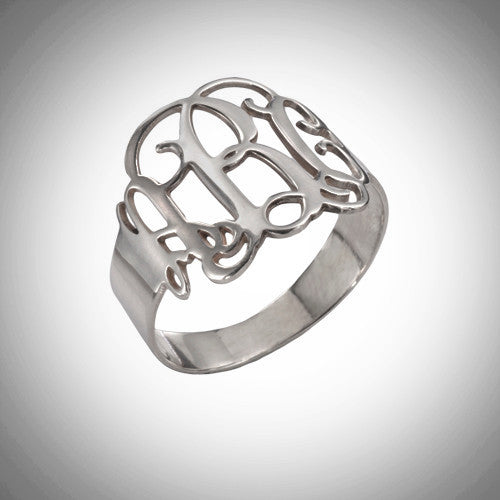The Monogram Ring - Sterling Silver - Ciao Bella Boutique