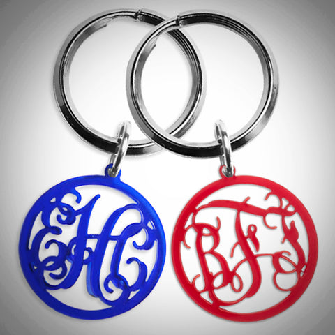 Acrylic Monogram Keychain - 22 Different Color Options - Ciao Bella Boutique