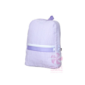 Small Backpack - Lilac Seersucker - Ciao Bella Boutique