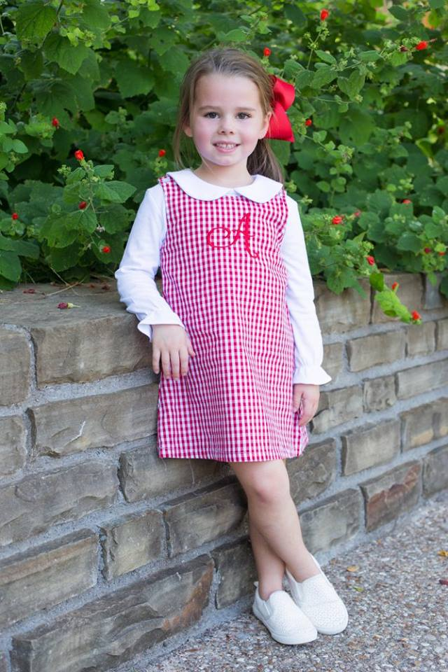 Gingham Jumper - Red - Ciao Bella Boutique