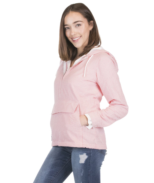 Women's Bar Harbor Seersucker and Plaid Pullover - 3 Colors - Ciao Bella Boutique