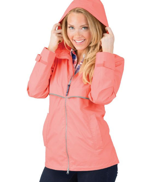 Women's New Englander Jacket - Bright Coral - Ciao Bella Boutique