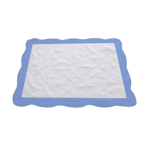 Baby Quilt - Blue Trim - Ciao Bella Boutique