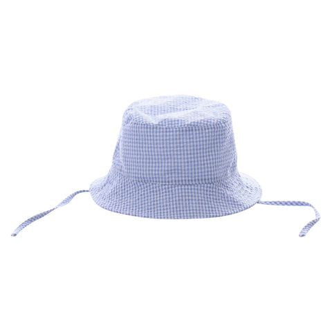 Bucket Hat - Blue Gingham - Ciao Bella Boutique