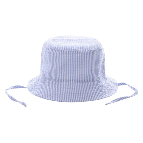 Bucket Hat - Blue Seersucker - Ciao Bella Boutique