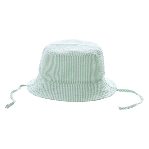 Bucket Hat - Lime Seersucker - Ciao Bella Boutique