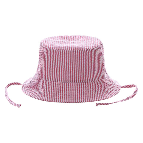 Bucket Hat - Red Seersucker - Ciao Bella Boutique