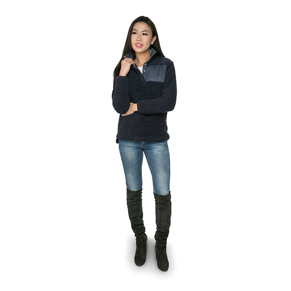 Sherpa Pullovers - Navy (2017) - Ciao Bella Boutique