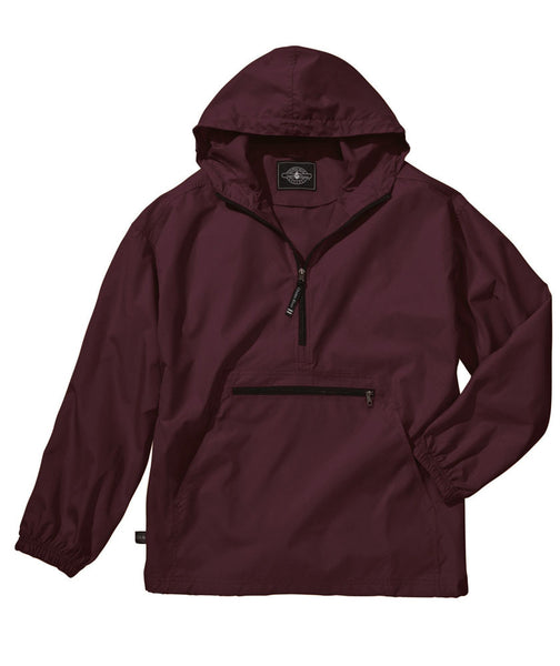 Youth Pack-N-Go Pullover - Maroon - Ciao Bella Boutique