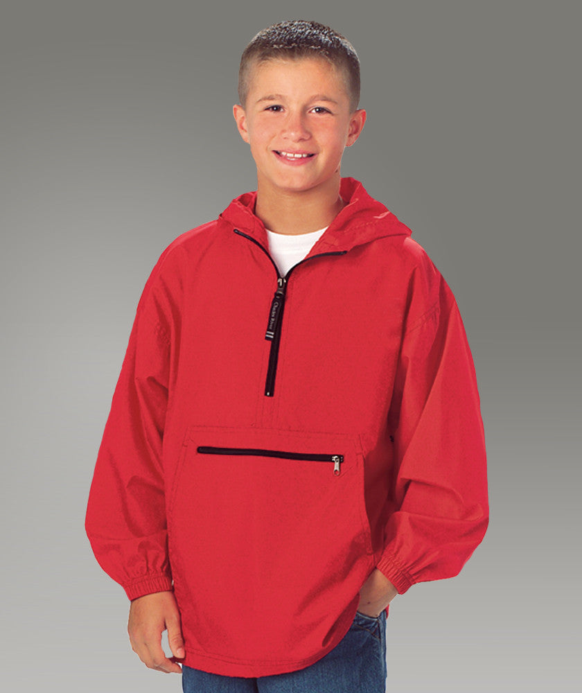 Youth Pack-N-Go Pullover - Red - Ciao Bella Boutique