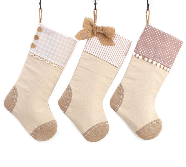 Bow Patches Stockings - Ciao Bella Boutique