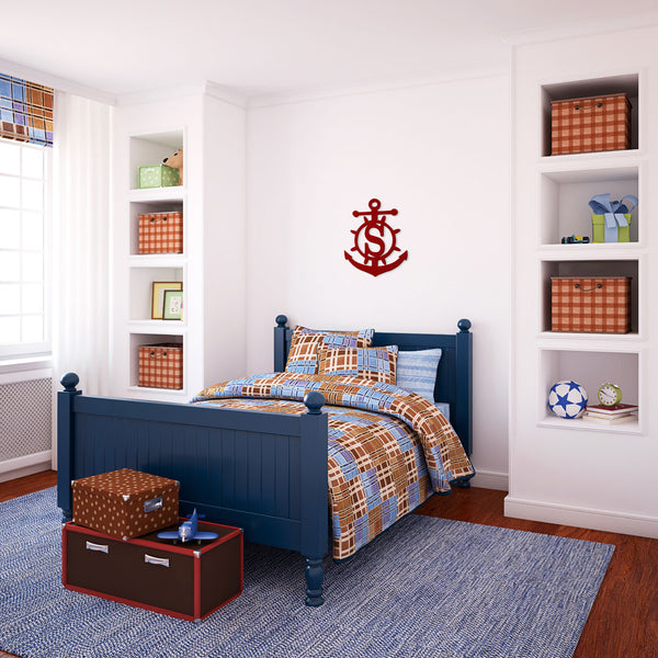 Anchor Wood Monogram - Ciao Bella Boutique