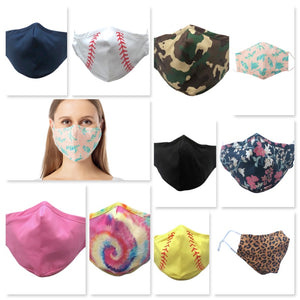 Adult Reusable Face masks with Nose Wire - 10 Color Patterns - Ciao Bella Boutique