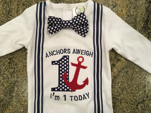 Bow Tie and Anchor Shirt - Ciao Bella Boutique