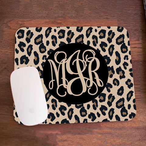 Leopard Monogram Mouse Pad - 3 Color Options - Ciao Bella Boutique