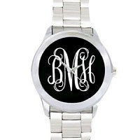 Black Monogrammed Watch - Ciao Bella Boutique