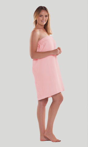Waffle Weave Towel Wrap - Blush - Ciao Bella Boutique