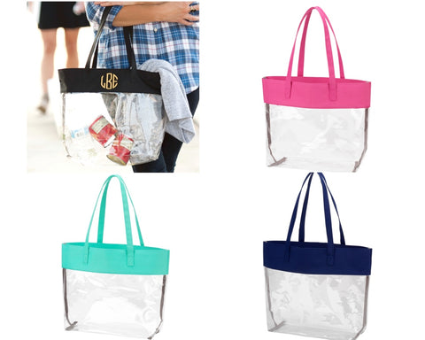 Clear Totes - 10 Colors - Ciao Bella Boutique