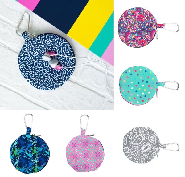 Earbud Cases - 6 Pattern Options - Ciao Bella Boutique