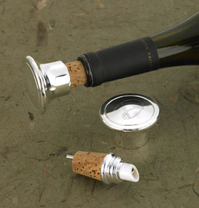Silver Platted Bottle Stopper & Pourer - Ciao Bella Boutique