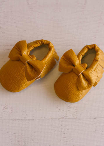 Bow Moccasins - Gold - Ciao Bella Boutique