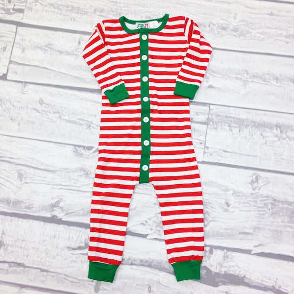 Holly Jolly Jammies - Red Striped - Ciao Bella Boutique