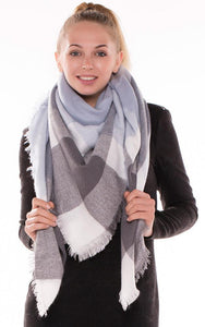 Light Blue Blanket Scarf - Ciao Bella Boutique