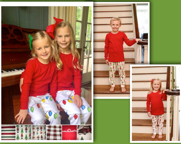 Organic Christmas Pajamas - Stripes & Plaids ** PRE-ORDER ONLY** - Ciao Bella Boutique